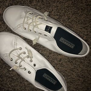 BRAND NEW ALL WHITE SPERRY SNEAKERS